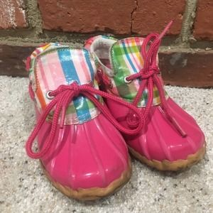 Pink Sperry Top Slider shoes Sz 12
